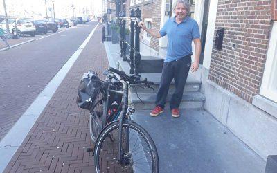 Het stuur om. Met de fiets naar klanten in de regio